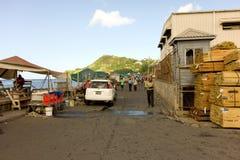Ένα πολυάσχολο ναυπηγείο ξυλείας στις Καραϊβικές Θάλασσες στοκ εικόνες
