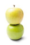 Ένα πράσινο και κίτρινο μήλο Στοκ φωτογραφία με δικαίωμα ελεύθερης χρήσης