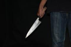 Ένα πρόσωπο δολοφόνων με αιχμηρό Στοκ Εικόνα