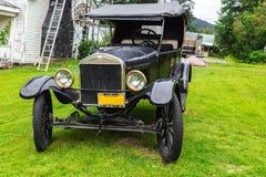 Ένα πρότυπο 1927 αυτοκινήτων της Ford σε Haines, Αλάσκα Στοκ Εικόνα