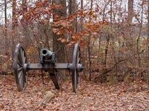 Ένα πυροβόλο εμφύλιου πολέμου από Gettysburg, Πενσυλβανία Στοκ Φωτογραφίες
