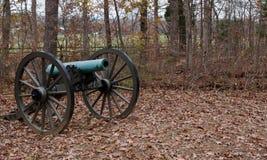 Ένα πυροβόλο εμφύλιου πολέμου από Gettysburg, Πενσυλβανία Στοκ εικόνα με δικαίωμα ελεύθερης χρήσης