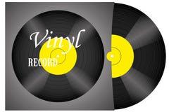 Ένα ρεαλιστικό βινυλίου αρχείο με μια κάλυψη Disco σχέδιο αναδρομικό foreground μουσική Ζωντανή μουσική απεικόνιση αποθεμάτων