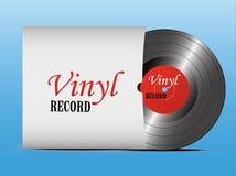 Ένα ρεαλιστικό βινυλίου αρχείο με μια κάλυψη Disco σχέδιο αναδρομικό foreground μουσική Ζωντανή μουσική ελεύθερη απεικόνιση δικαιώματος