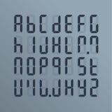 Ένα ρεαλιστικό ηλεκτρονικό αλφάβητο από το Α στο Ω Πίνακας στην οθόνη Ελεύθερη απεικόνιση δικαιώματος