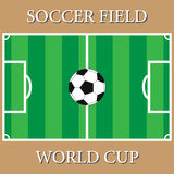 Ένα ρεαλιστικό ποδόσφαιρο χλόης Στοκ φωτογραφία με δικαίωμα ελεύθερης χρήσης