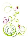 Ένα ρομαντικό φυτό ανασκόπησης διανυσματική απεικόνιση