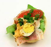ένα σάντουιτς που πλαισιώ Στοκ Φωτογραφίες