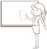 Ένα σαφές σκίτσο ενός δασκάλου Στοκ φωτογραφίες με δικαίωμα ελεύθερης χρήσης