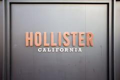 Ένα σημάδι για το Hollister στοκ φωτογραφία με δικαίωμα ελεύθερης χρήσης