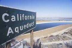 Ένα σημάδι για το υδραγωγείο Καλιφόρνιας Στοκ Εικόνες