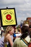 Ένα σημάδι «Frack ελεύθερο Lancashire» Στοκ Φωτογραφία