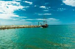 Ένα σκάφος πειρατών Στοκ φωτογραφία με δικαίωμα ελεύθερης χρήσης