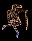 Ένα σκίτσο ενός ασυνήθιστου σχεδίου χαρακτήρα απεικόνιση αποθεμάτων