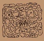 Ένα σκίτσο της σύστασης πετρών διανυσματική απεικόνιση