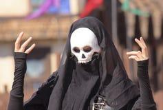 Ένα σκοτεινό Mime στο φεστιβάλ αναγέννησης της Αριζόνα Στοκ εικόνα με δικαίωμα ελεύθερης χρήσης