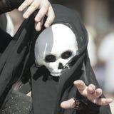 Ένα σκοτεινό Mime στο φεστιβάλ αναγέννησης της Αριζόνα Στοκ Εικόνα