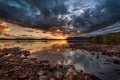 Ένα σπάσιμο στα σύννεφα Στοκ εικόνες με δικαίωμα ελεύθερης χρήσης