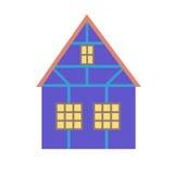 Ένα σπίτι με το ξύλινο ντεκόρ Στοκ εικόνες με δικαίωμα ελεύθερης χρήσης