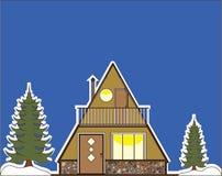 Ένα σπίτι πλαισίων απεικόνιση αποθεμάτων