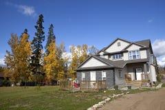 Ένα σπίτι σε Αλμπέρτα, Καναδάς στοκ φωτογραφίες με δικαίωμα ελεύθερης χρήσης