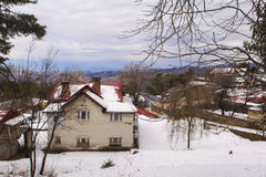 Ένα σπίτι σε Murree το χειμώνα, Πακιστάν Στοκ Φωτογραφίες