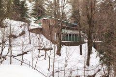 Ένα σπίτι σε Murree το χειμώνα, Πακιστάν Στοκ Εικόνα