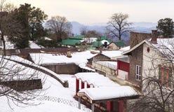 Ένα σπίτι σε Murree το χειμώνα, Πακιστάν Στοκ εικόνα με δικαίωμα ελεύθερης χρήσης