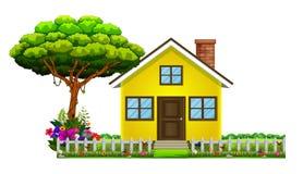 Ένα σπίτι στην όμορφη φύση απεικόνιση αποθεμάτων