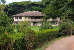 Ένα σπίτι ύφους φυτειών Kauai στοκ εικόνα