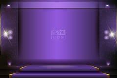 Ένα στάδιο θεάτρων με μια απεικόνιση κουρτινών Απεικόνιση αποθεμάτων