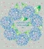 Ένα στεφάνι των λουλουδιών με τις καρδιές Στοκ Εικόνα