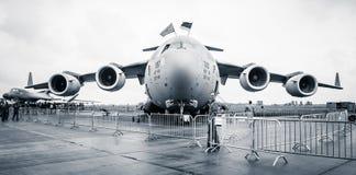 Ένα στρατηγικό και τακτικό airlifter Boeing γ-17 Globemaster ΙΙΙ Στοκ εικόνες με δικαίωμα ελεύθερης χρήσης