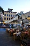Ένα συμπαθητικό εστιατόριο στην Ιταλία Στοκ Εικόνες