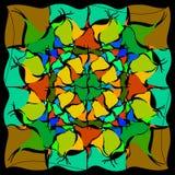 Ένα σχέδιο των χρωματισμένων ομαλών τριγώνων Στοκ φωτογραφία με δικαίωμα ελεύθερης χρήσης
