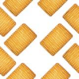 Ένα σχέδιο των στρογγυλών μπισκότων σε ένα άσπρο υπόβαθρο Στοκ φωτογραφίες με δικαίωμα ελεύθερης χρήσης