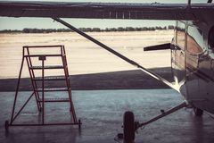 Ένα σύγχρονο αεροπλάνο Στοκ Εικόνες
