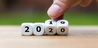 Ένα σύμβολο Sylvester 2020 στοκ φωτογραφίες