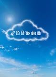 Ένα σύννεφο αποθήκευσης Στοκ εικόνες με δικαίωμα ελεύθερης χρήσης