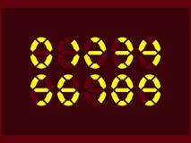 Ένα σύνολο αριθμών νέου για τις επιδείξεις των ηλεκτρονικών συσκευών oval απεικόνιση αποθεμάτων