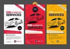 Ένα σύνολο αυτοκίνητων σχεδιαγραμμάτων συλλογής εμβλημάτων υπηρεσιών Ιστού Στοκ εικόνα με δικαίωμα ελεύθερης χρήσης