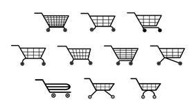Ένα σύνολο διαφορετικών τύπων κάρρων αγορών για τα apps και τους ιστοχώρους απεικόνιση αποθεμάτων