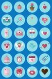 Ένα σύνολο 24 εικονίδιο ημέρας βαλεντίνων ` s εικονιδίων που χρησιμοποιείται στα μέσα Συλλογή των εικονιδίων βαλεντίνων Στοκ φωτογραφίες με δικαίωμα ελεύθερης χρήσης