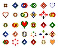 Ένα σύνολο λογότυπων, εικονιδίων και γραφικών στοιχείων Στοκ Φωτογραφίες