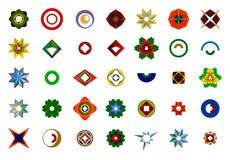 Ένα σύνολο λογότυπων, εικονιδίων και γραφικών στοιχείων Στοκ εικόνες με δικαίωμα ελεύθερης χρήσης
