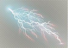 Ένα σύνολο μαγικών και φωτεινών ελαφριών αποτελεσμάτων αστραπής επίσης corel σύρετε το διάνυσμα απεικόνισης Ηλεκτρικό ρεύμα απαλλ Στοκ εικόνες με δικαίωμα ελεύθερης χρήσης