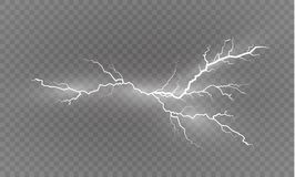 Ένα σύνολο μαγικών και φωτεινών ελαφριών αποτελεσμάτων αστραπής επίσης corel σύρετε το διάνυσμα απεικόνισης Ηλεκτρικό ρεύμα απαλλ Στοκ Φωτογραφία