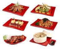 Ένα σύνολο παραδοσιακών ιαπωνικών πιάτων στοκ εικόνα