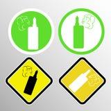 Ένα σύνολο σημαδιών με τα ηλεκτρονικά τσιγάρα μια θέση για το κάπνισμα διανυσματική απεικόνιση