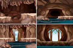 Ένα σύνολο σπηλιάς φύσης ελεύθερη απεικόνιση δικαιώματος